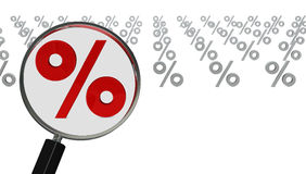 Big percentage symbol Stock Image