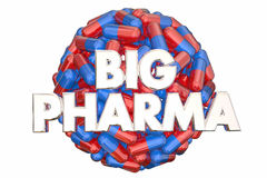 Big Pharma Industry Lobbying Power Pills Medicine. 3d Illustration vector illustration
