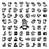 Big phone icons set Stock Photography