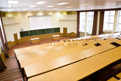 Big physics lecture hall Royalty Free Stock Photo