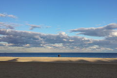 Big Picture. Beach in NJ on a cloudy yet beautiful day Royalty Free Stock Photo