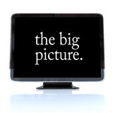The Big Picture - High Definition Television HDTV. A HDTV television with the words The Big Picture on the screen Stock Photography