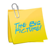 The big picture post illustration design Stock Photo