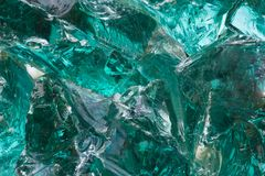 Big piece of green glass Royalty Free Stock Photography