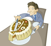 The big piece of pie Royalty Free Stock Images