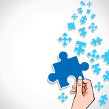 Big piece of puzzle Stock Photography