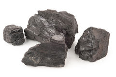Big pieces of coal Royalty Free Stock Photo