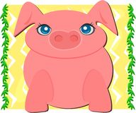 Big Pig in a Nature Frame Royalty Free Stock Photo