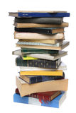 Big pile of books. White background stock image