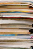 Big pile of books. On the table royalty free stock image