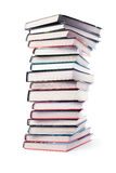 Big pile of books isolated Stock Images