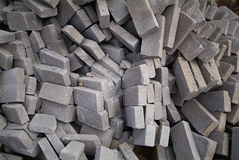 Big pile of bricks  Stock Photo