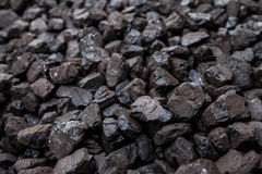 Big pile of coal -coal detail Royalty Free Stock Images