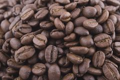 Big pile of coffee beans Royalty Free Stock Photography