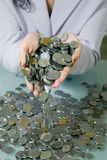 Big Pile of Coins Stock Photos