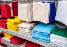 Big pile of colorful towels Royalty Free Stock Photo