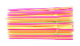 Big pile of drinking straws isolated Stock Images