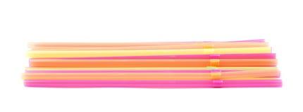 Big pile of drinking straws isolated Stock Image