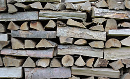 Big Pile of dry firewoods Royalty Free Stock Images