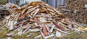 Big pile of firewood Stock Image