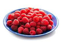 Big Pile of Fresh Raspberries in the White Royalty Free Stock Photography