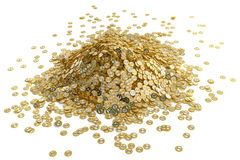 Big pile of golden Dollar coins Royalty Free Stock Photography