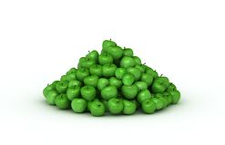 Big pile of green apples Stock Photos