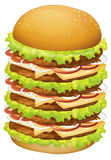 A big pile of hamburger Royalty Free Stock Images