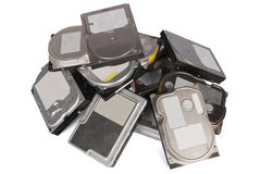 Big pile hard drives Royalty Free Stock Images