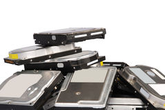 Big pile hard drives Stock Images