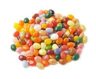 Big pile of jelly beans isolated Royalty Free Stock Images