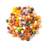 Big pile of jelly beans isolated Stock Photography