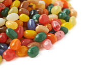 Big pile of jelly beans isolated Stock Photo