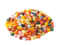 Big pile of jelly beans isolated Royalty Free Stock Image