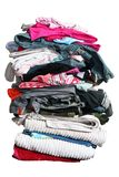 Big pile of laundry with path royalty free stock images
