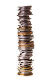 Big pile of little coins Royalty Free Stock Images