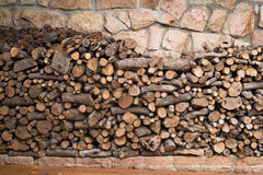 Big pile of logs Royalty Free Stock Photography