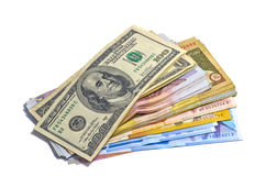 Big pile of money Stock Images