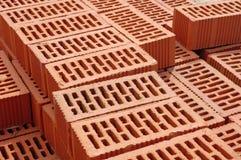 Big pile of new bricks Royalty Free Stock Images