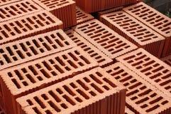 Big pile of new bricks Stock Photo