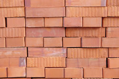 Big pile of new bricks Royalty Free Stock Images