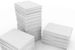 Big Pile Of Paper Stock Photo