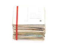Big pile of old letters and postcards Stock Photos