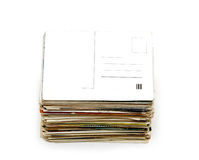 Big pile of old letters and postcards Stock Photo