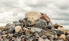 Big pile of rocks and boulders Stock Image