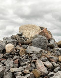 Big pile of rocks and boulders Stock Images