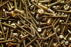 Big pile of screws Stock Photography