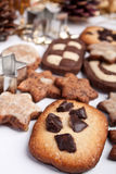 Big pile of various cookies Stock Image