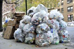 Big pile of waste garbage Stock Images