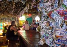 No Name Pub in Big Pine Key. BIG PINE KEY, FL - CIRCA 2012: Patrons on famous No Name Pub circa 2012. The pub is a landmark in the Florida Keys, a popular Stock Photo